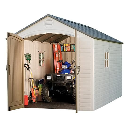 Lifetime 8 X 10 Outdoor Storage Shed Plastic Storage Sheds Shed Storage Lifetime Storage Sheds