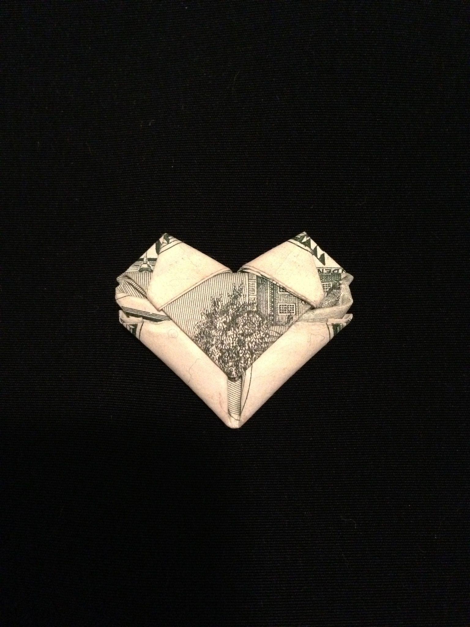 Origami how to fold dollarany bill into a heart gift giving origami how to fold dollarany bill into a heart jeuxipadfo Images