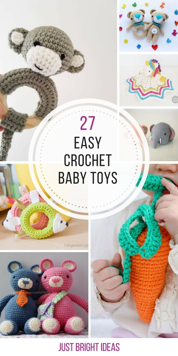 Crochet Baby Shower Favors To Make ~ Crochet baby toys that make wonderful shower gifts
