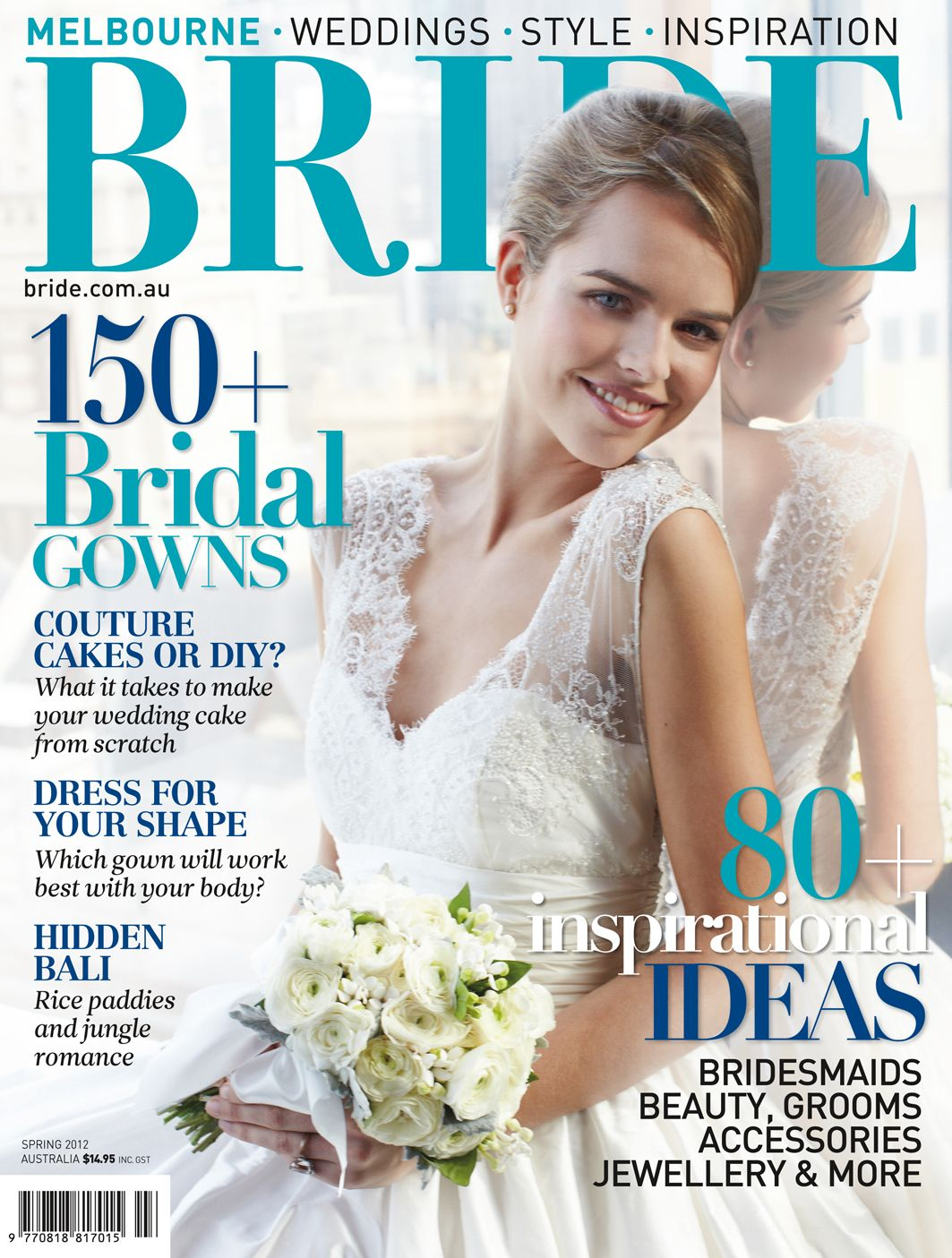 Beautiful cover of the current Melbourne Bride magazine