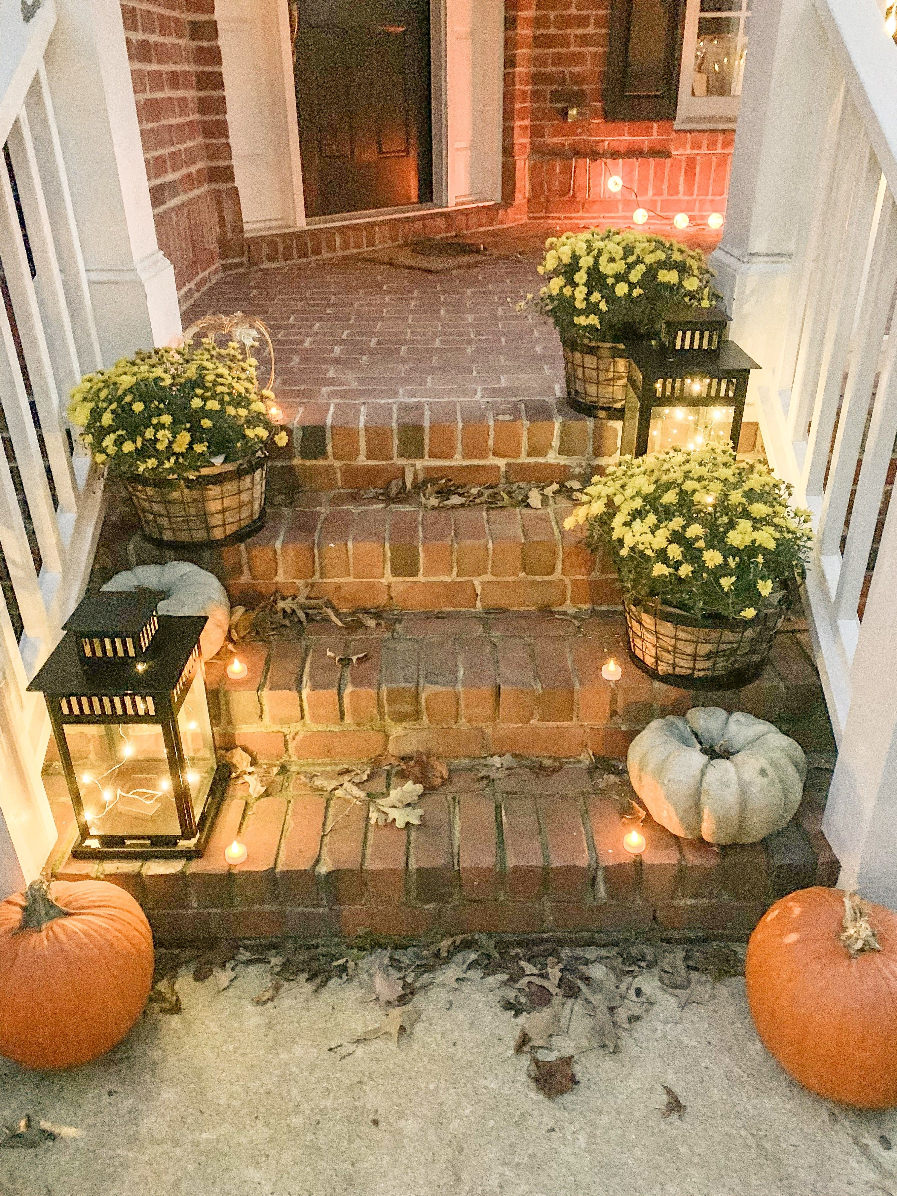 How To Decorate Your Front Porch For Fall From Pumpkins To Mums To