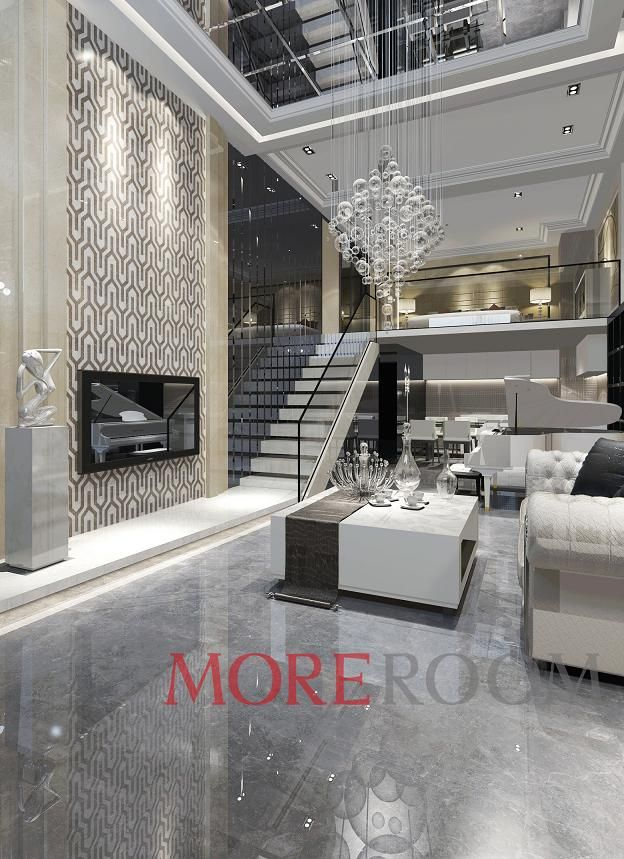 LIVING SPACE-GALLERY-Porcelain Tile| Laminated Marble Panel| Waterjet Medallion| Mosaic| Natural Stone-Foshan Moreroom Stone Co.,Ltd——MOREROOM STONE