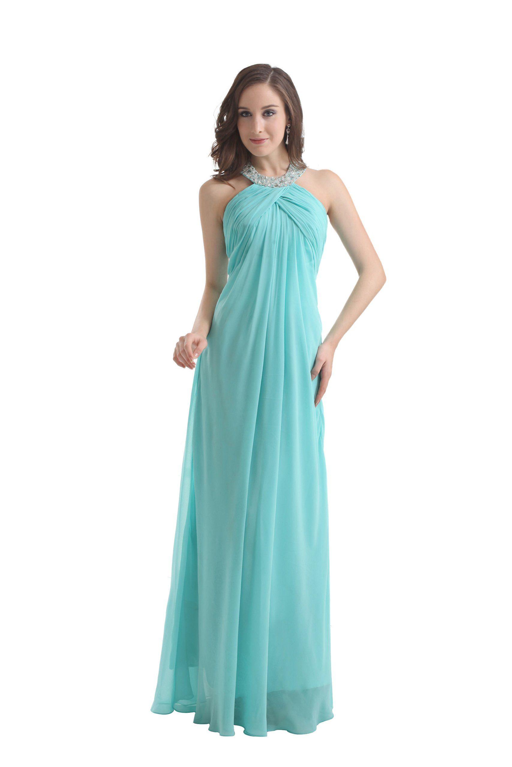 herafa p31515-2 Evening Gowns Elegant Halter Sleeveless Ruched ...