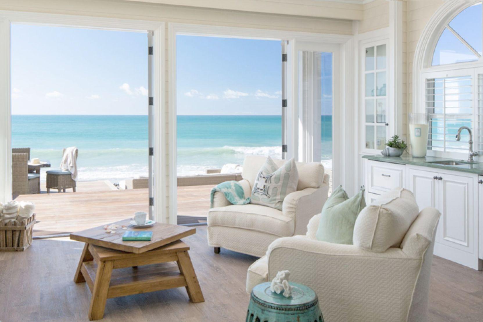 Coastal style home decor modern beach house with minimalist interior design sweden