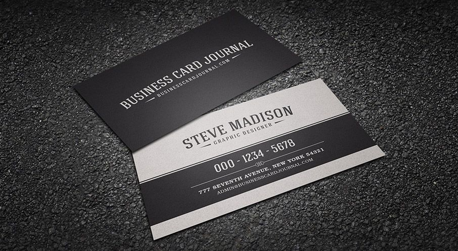 Classic Black and White Vintage Business Card Template - name card format