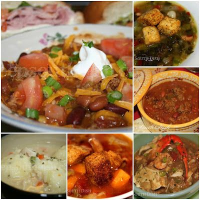 A collection of favorite soups, stews, chili and gumbo recipes from Deep South Dish.