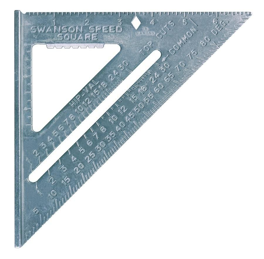 Highlights Size 7 X7 The Speed Square Is Constructed Of Durable Heavy Gauge Aluminum Alloy Matte Finish To Speed Square Woodworking Tips Woodworking