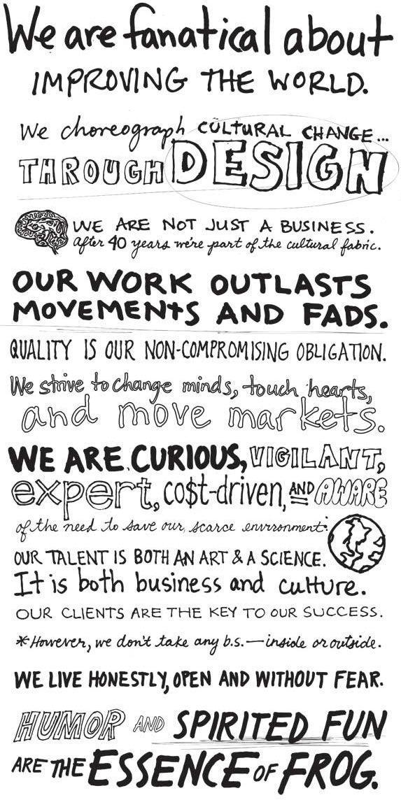Frog Design Mission Statement  Words To Work By