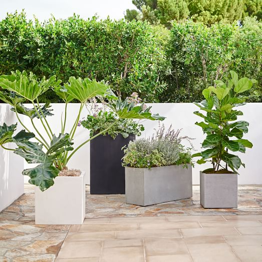 Cityscape Planters Tall Double Outdoor Planters Garden Planters Square Planters