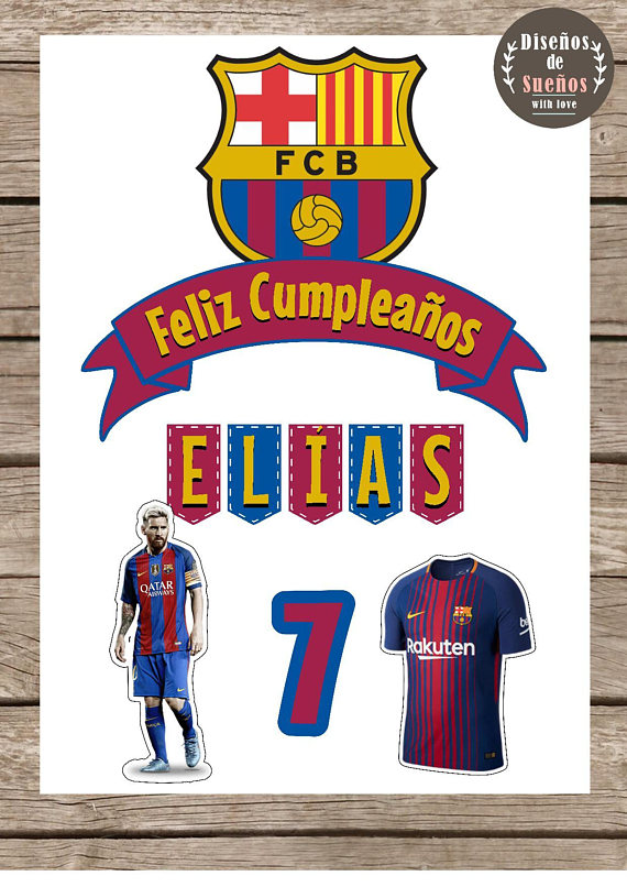 This Ad Is For A Digital File For Diy Printing No Physical Product Will Be Shipped This Ad Is For A Prin Barcelona Cake Soccer Birthday Parties Custom Soccer