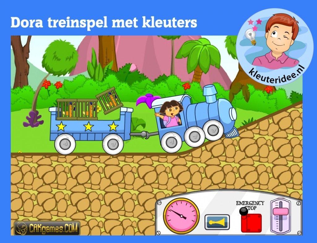 Dora Treinspel Voor Kleuters Op Digibord Of Computer Op