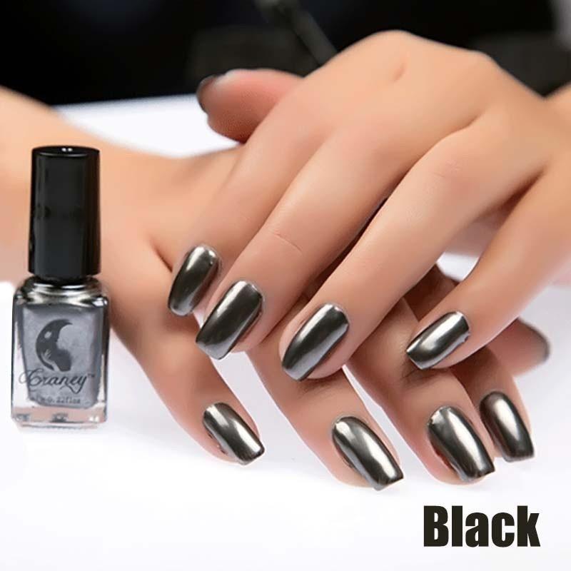 Metallic Shiny Mirror Effect Nail Polish Variety Colors
