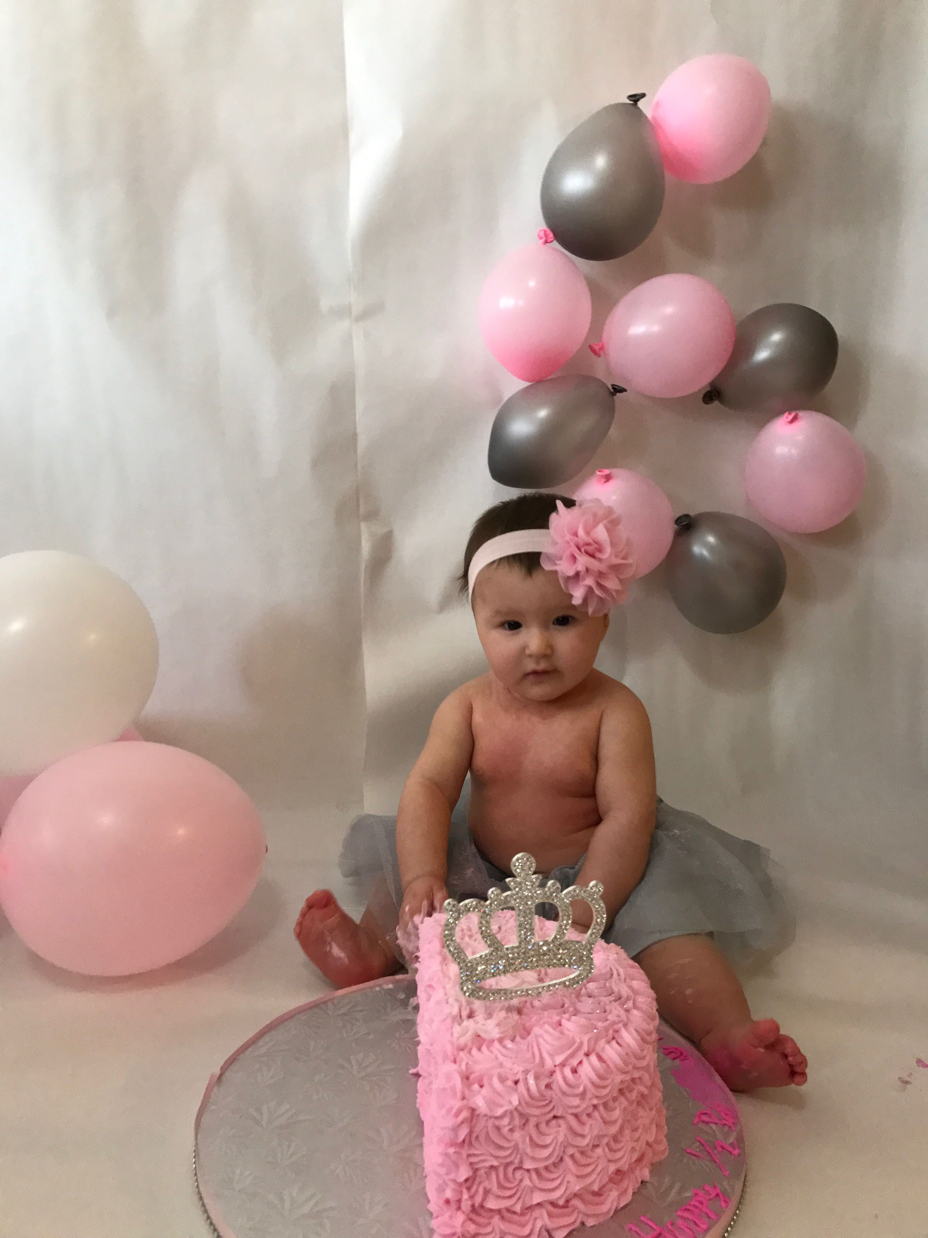 6 Months Old Photo Shoot For A Baby Girl Baby Girl 6 Month Olds