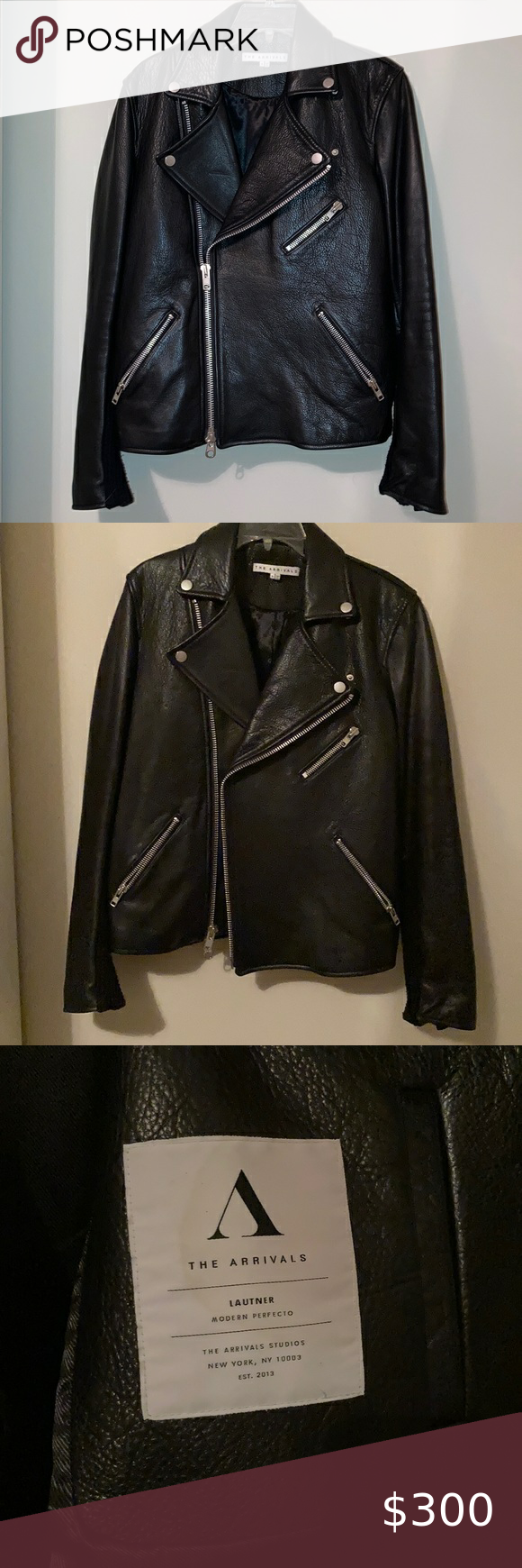 The Arrivals The Lautner Black Leather Jacket Leather Jacket Black Leather Jacket Vegan Leather Moto Jacket [ 1740 x 580 Pixel ]