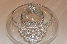 "VINTAGE Estate ""Jewels by Sandra-Lee"" RHINESTONE Necklace, bracelet, earring set"