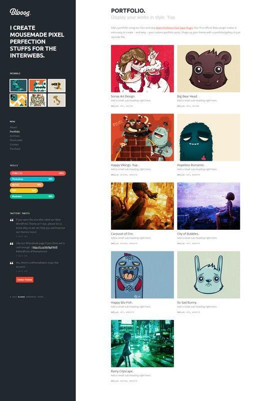 Blooog | Premium Blog & Portfolio Theme  #wordpress #theme #website #template #responsive #design #webdesign #flat #flatdesign #magazine #blog
