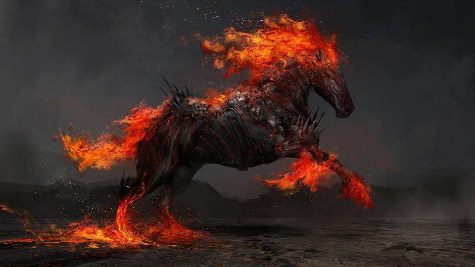 Pin von Tanja Lange auf FIRE | Fantasy tiere, Pferde
