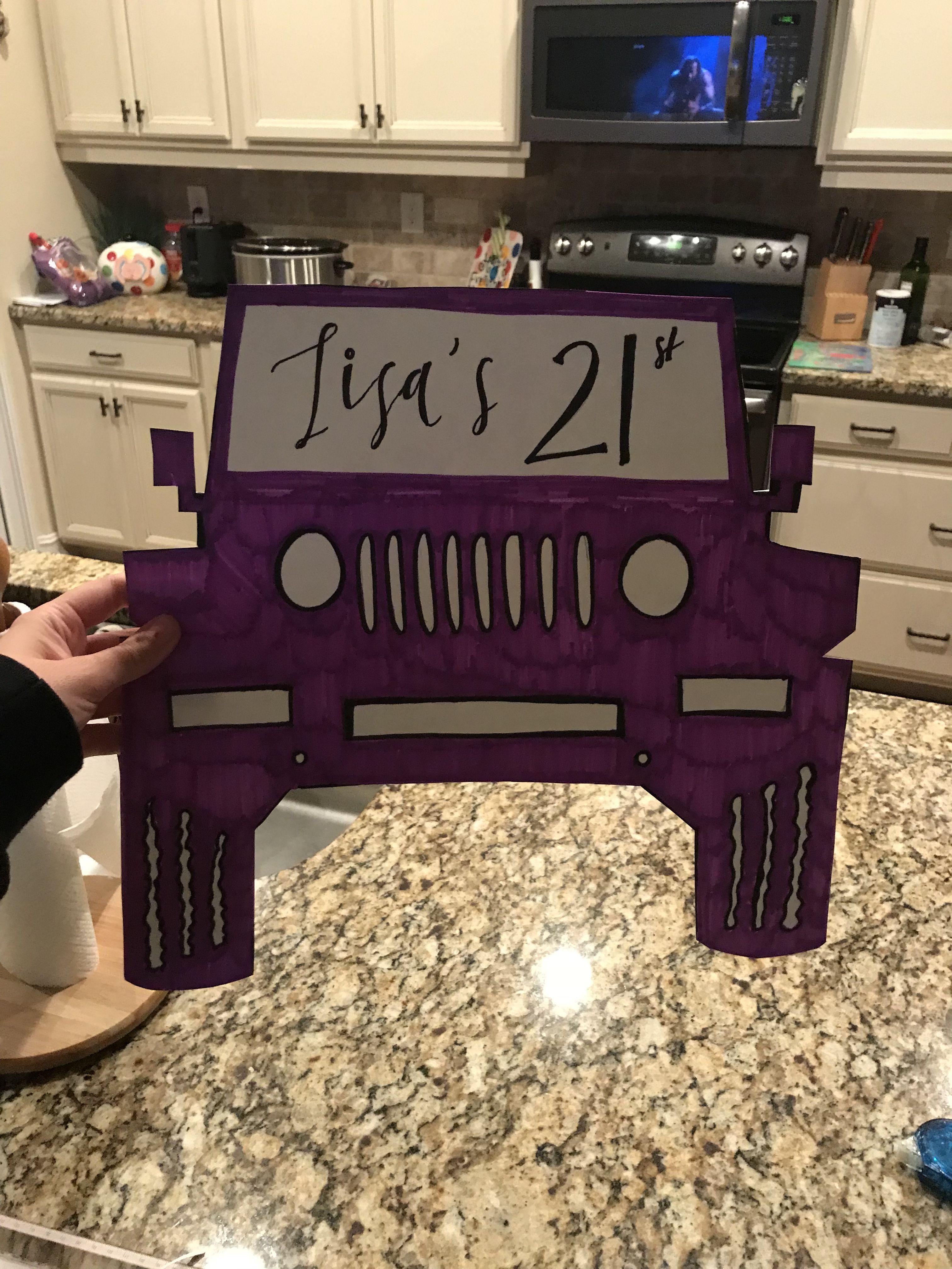 21st Birthday sign! #Birthday #Birthdaysign #twentyone #signs #signnight #21stbirthdaysigns