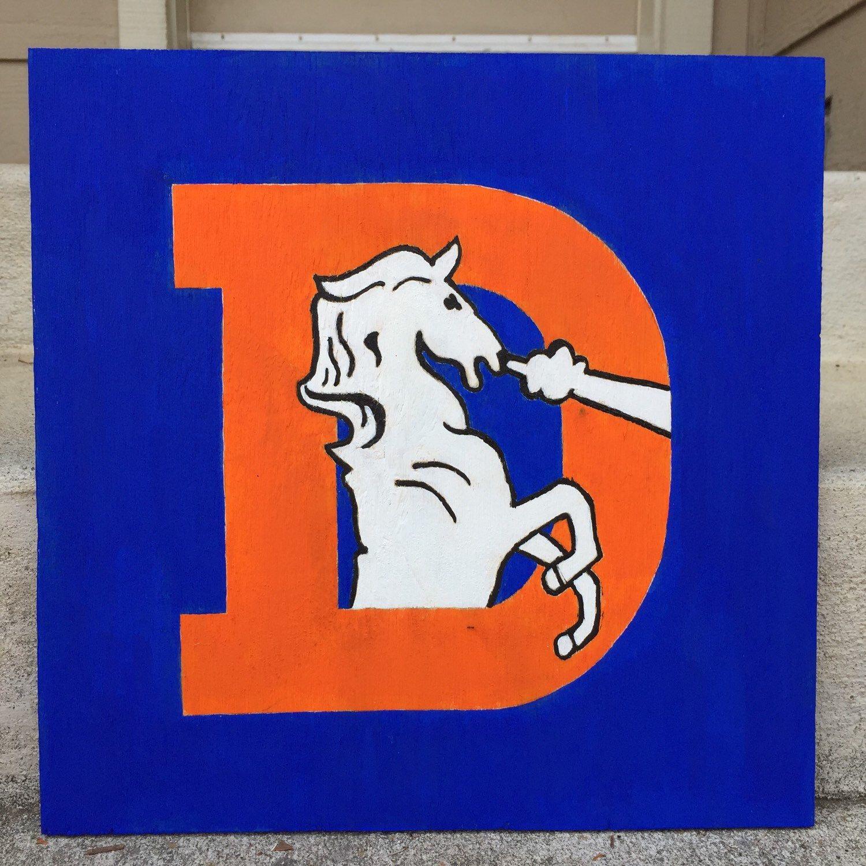 Denver Broncos Retro Sign Denver broncos logo, Nfl