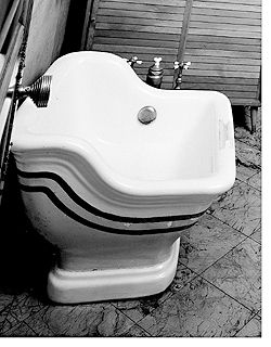 Photo of In the matter of vintage bathroom fixtures, many changes also took place at this…
