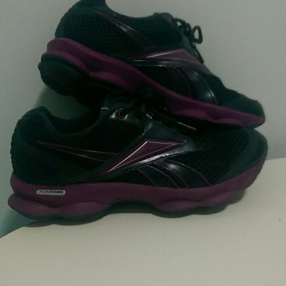 Reebok Barely used purple and black Reebok runtone Reebok Shoes