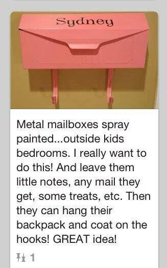 Kids Bedroom Door metal mailboxes on outside of kids bedroom doorleave notes