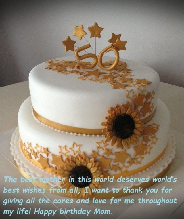 23+ Excellent Image of Birthday Cake Wishes   Birthday cake for mom, Cute birthday cakes, Fall ...