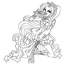 monster high coloring pages catty noir costume | Top 27 Monster High Coloring Pages For Your Little Ones ...