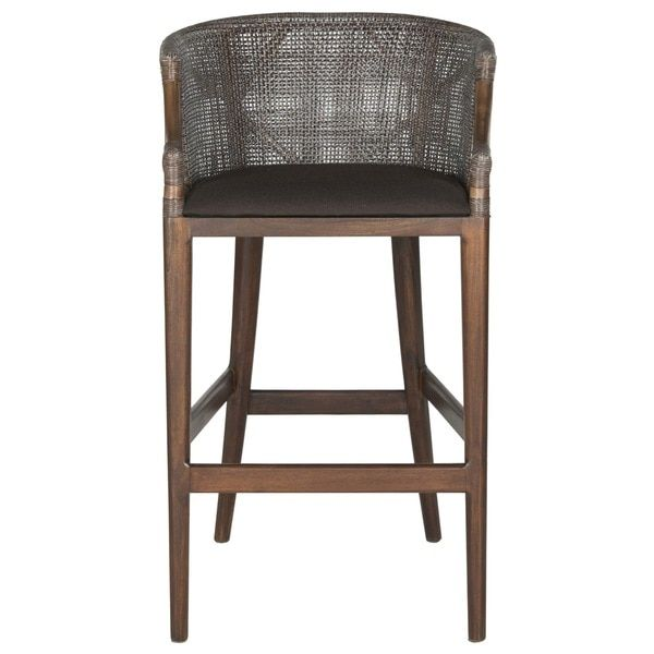Safavieh Rural Woven Dining 28 Inch Brando Brown Bar Stool