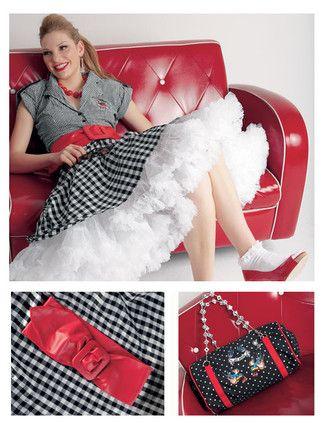 aee9a7dcec1752 Burda Schnittmuster Rockabilly Rockabilly Taschen, 50er Jahre Kostüm,  Karneval Kostüm Damen, Kleidung Nähen