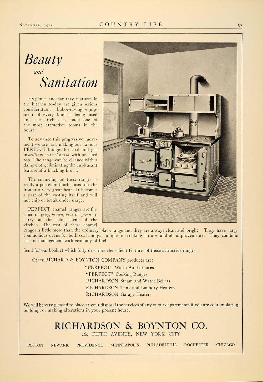 1921 Ad Richardson Boynton Kitchen Stove Perfect Range 1920s Kitchen Vintage Appliances Kitchen Stove The Originals