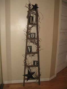 Primitive Ladder Decorating Ideas Etsy