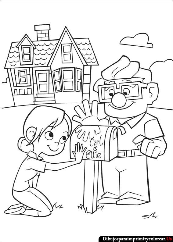 Dibujos de Up - Una Aventura de Altura para Imprimir y Colorear | up ...