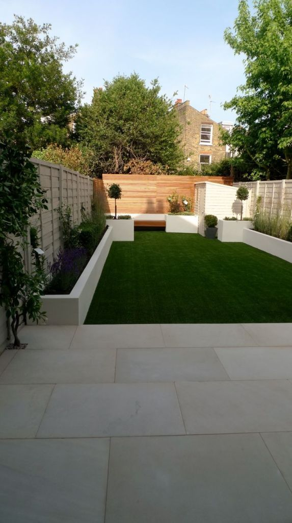 Exterior Modern Small Garden Designs Using Sleepers from Easy