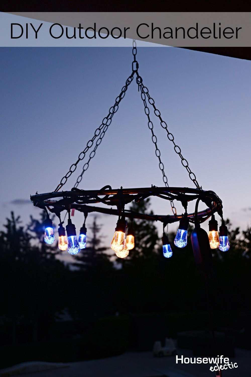 Diy outdoor chandelier family life craft and crafty how to make a super cool diy outdoor chandelier housewife eclectic arubaitofo Images