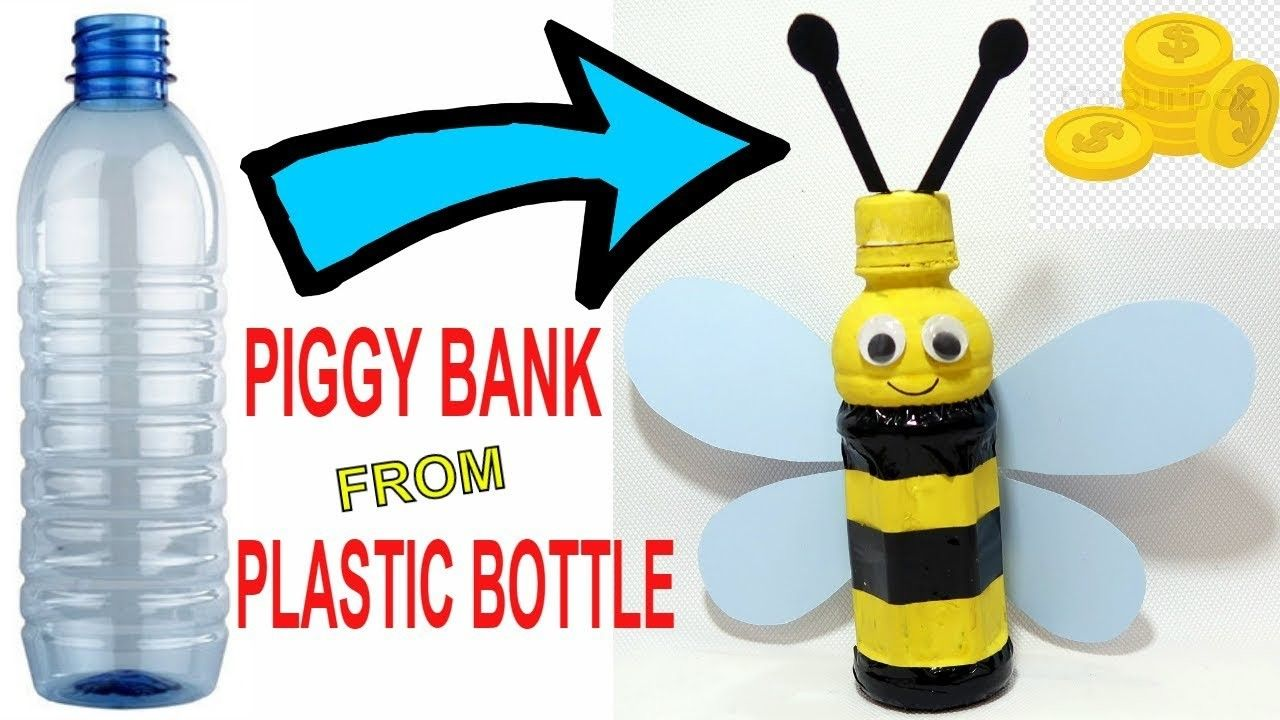 HONEY BEE PIGGY BANK FROM PLASTIC BOTTLE | children's crafts