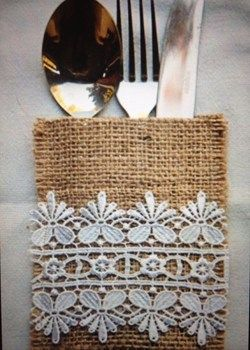 Hessian Burlap Cutlery Pouches Hessian Wedding Burlap Cutlery