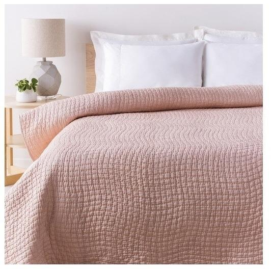Alba Solid Blush Pink Quilt Pink Bedding Pink Quilts Home Decor