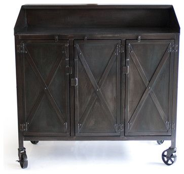 Custom Industrial Hostess Stand   Eclectic   Kitchen Islands And Kitchen  Carts   Denver   Real