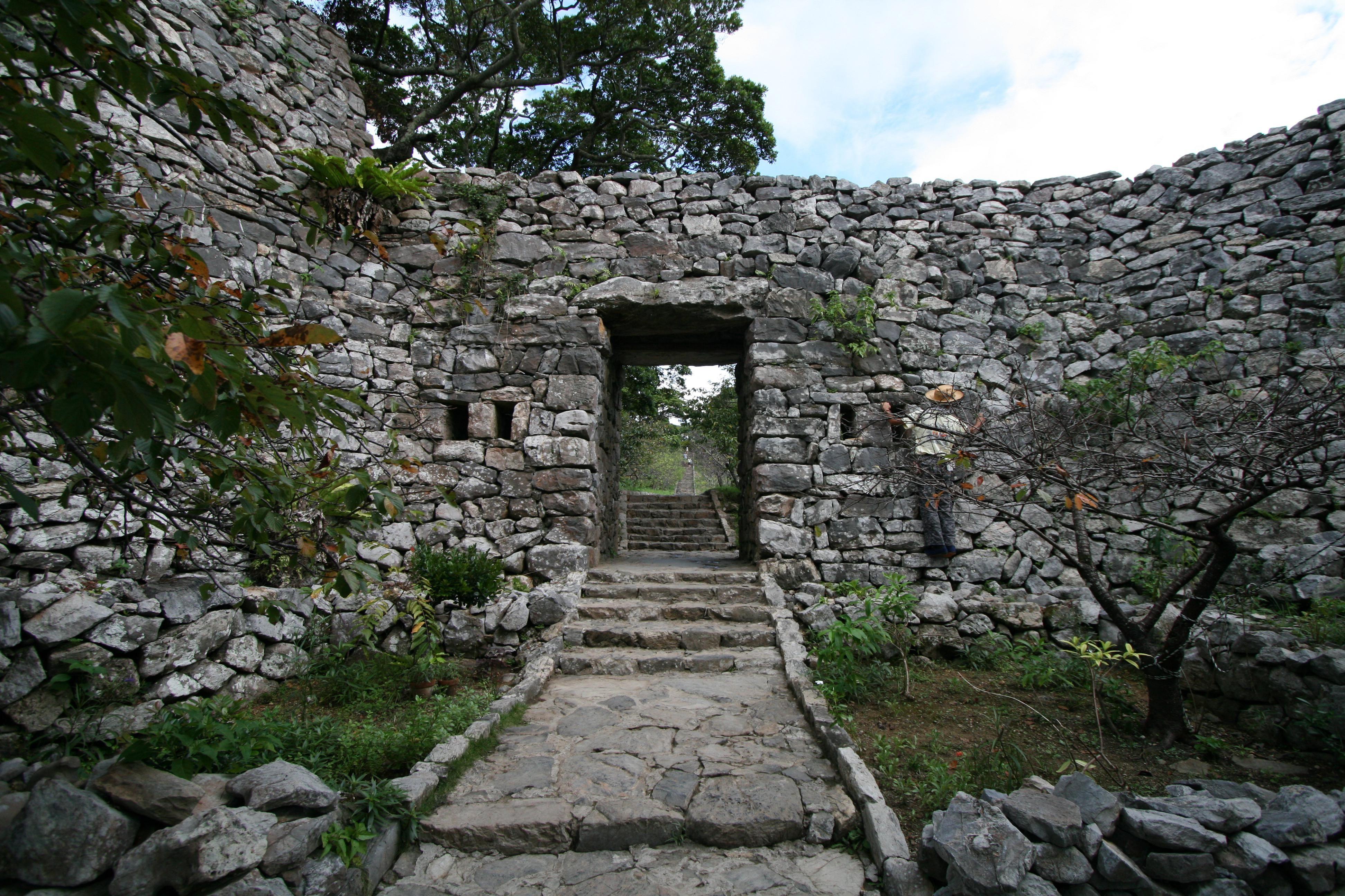 Scenery View Of Zakimi Castle Ruins In Okinawa, Japan ... |Okinawa Japan Ruins