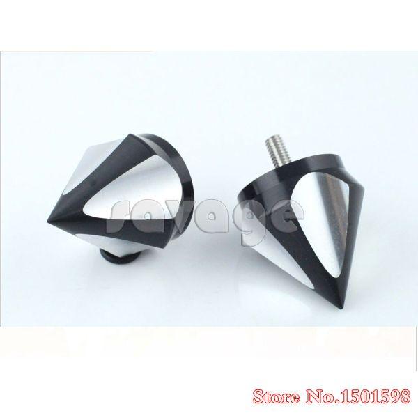 Motorcycle CNC Aluminum Handlebar Grips Bar Ends 3D For SUZUKI GSX-R1300 HAYABUSA 1999-2014