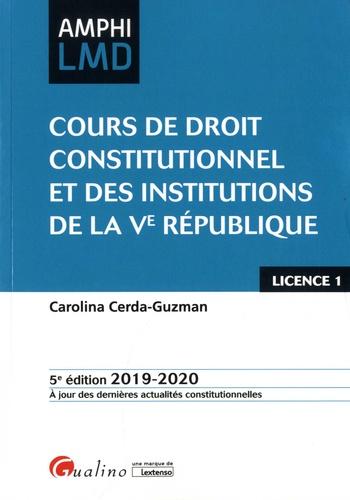 Cours De Droit Constitutionnel Et Des Institutions De La Ve Republique Edition 2019 2020 Carolina Cerda Guzman Cours De Droit Droit Public Separation Des Pouvoirs