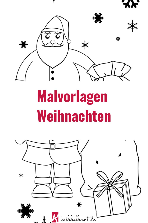 malvorlage für weihnachten - malen mit kindern in 2020