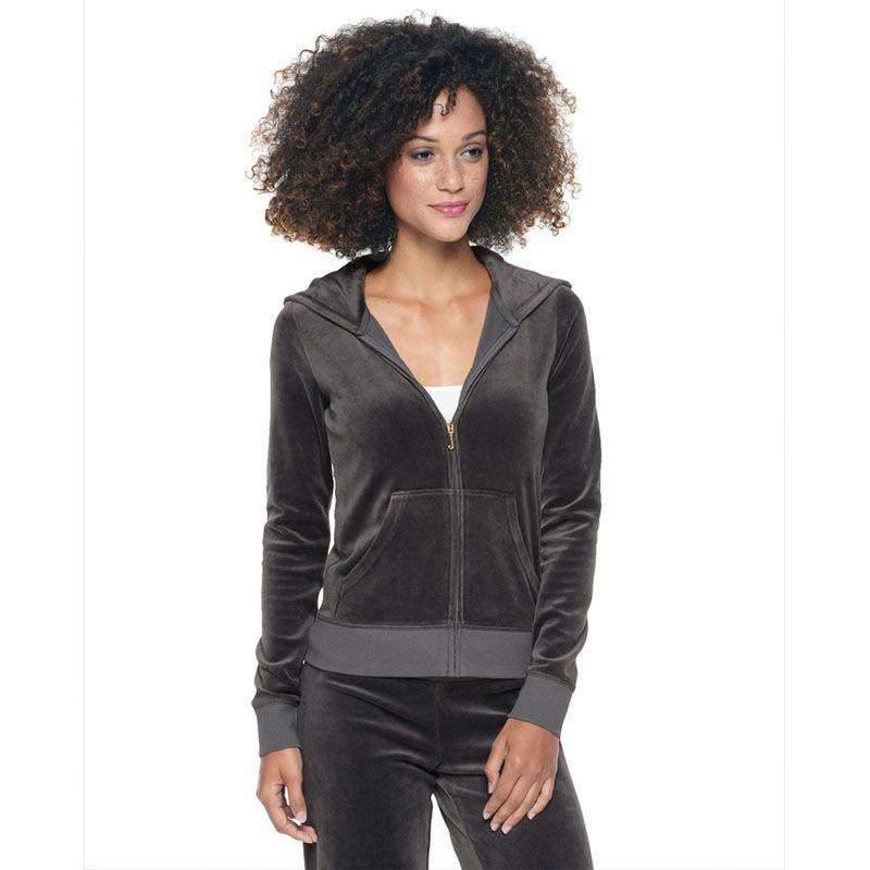 3020df8924ca Juicy Couture Sequin Crown Velour Tracksuit 602 2pcs Women Suits Deep Grey