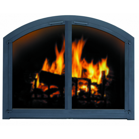 Arched Cascade Air Sealed Fireplace Door Fireplace Fireplace Doors Masonry Fireplace