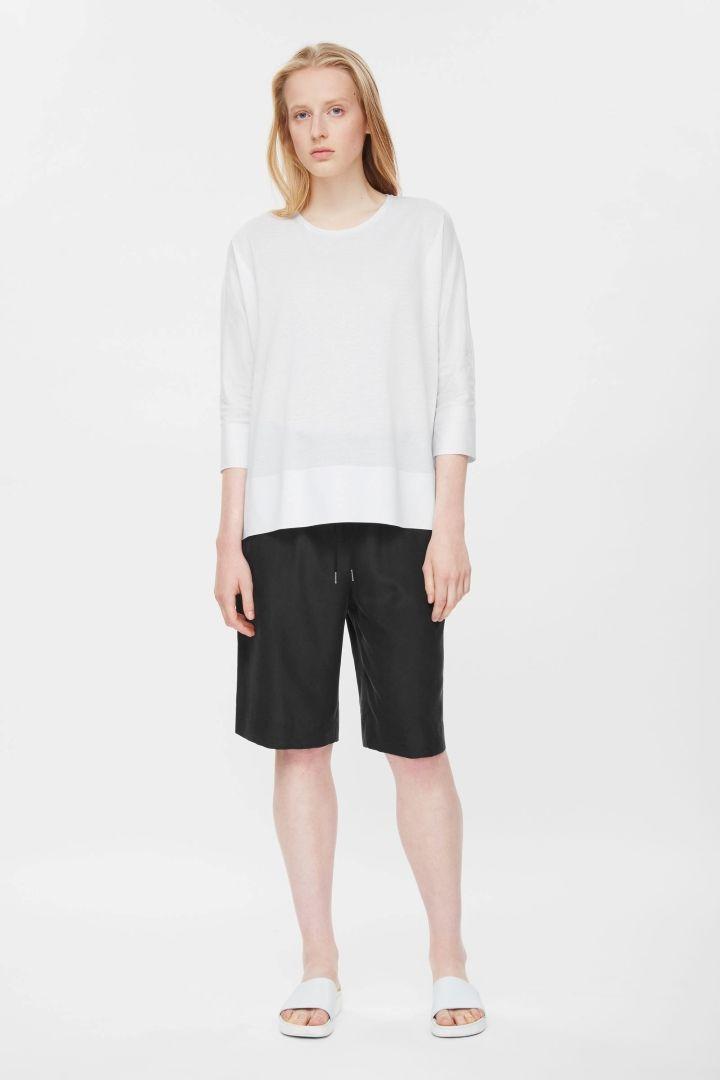 COS | Drawstring silk shorts