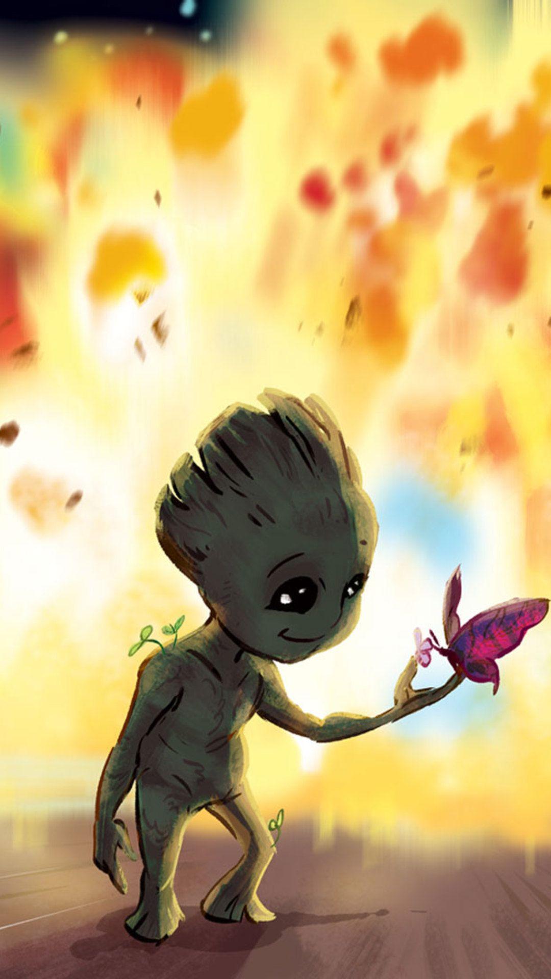 Ilmu Pengetahuan 7 Baby Groot Dancing Wallpaper