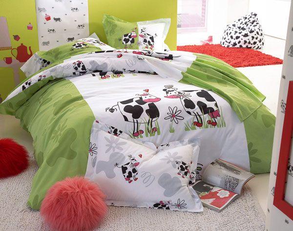 linge de lit vache Grâce aux petites vaches et sa verdure, ceux qui ont conservé leur  linge de lit vache