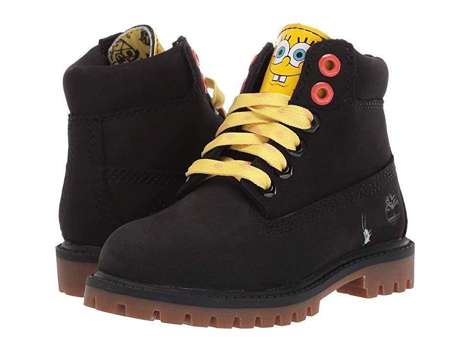Timberland Kids 6 Premium Boot with Lined Tongue Spongebob