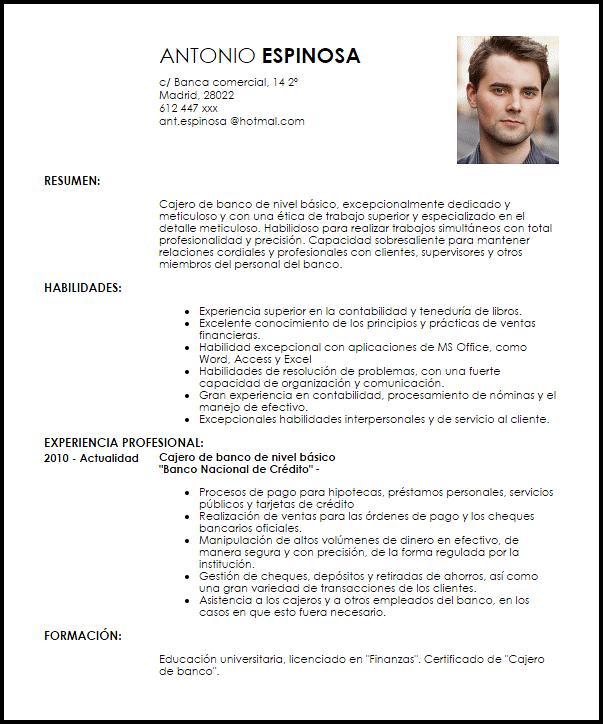 Modelos De Curriculum Vitae, Currículum